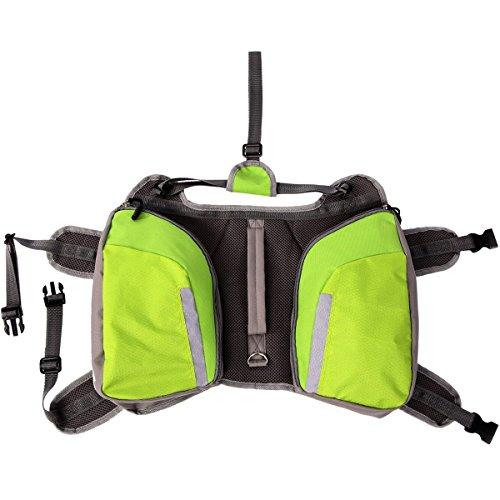 UKCOCO Hund Rucksack Wasserdicht Reflektierende Satteltasche für Wandern Camping Wandern Ausbildung