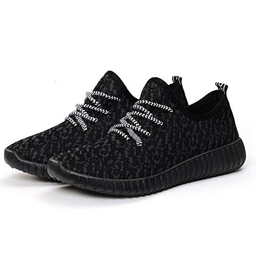 maschi Ms. scarpe sportive Scarpe da corsa traspirante tempo libero Scarpe basse nero