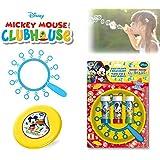Set infantil juguetes (frisbee + multi trompeta de pompas) con varios motivos - Mickey Mouse