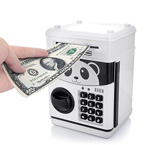 Cartoon Sparschwein Cash Coin kann Passwort elektronische Geld Bank Safe Spardose ATM Bank Safe Schlösser Panda Smart Sprachaufforderung Geld Piggy Box für Kinder / Weihnachtsgeschenk (Atm-geld-box)