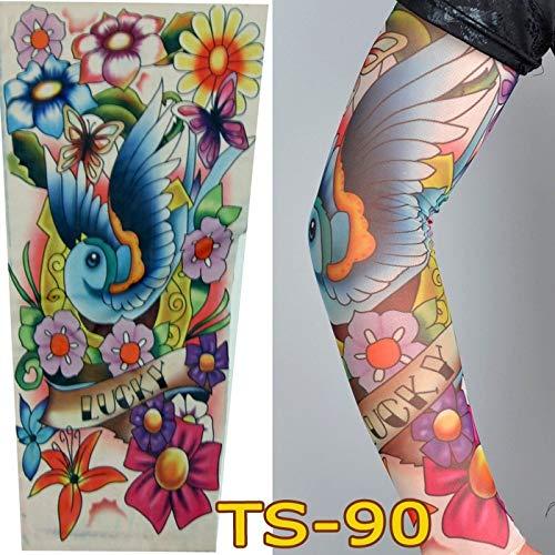 bdeckung Tattoo Ärmel Blume Arm Tattoo Männer und Frauen Sonnenschutzhülle verdeckte Armschutz Reiten Ärmel, TS90 ()