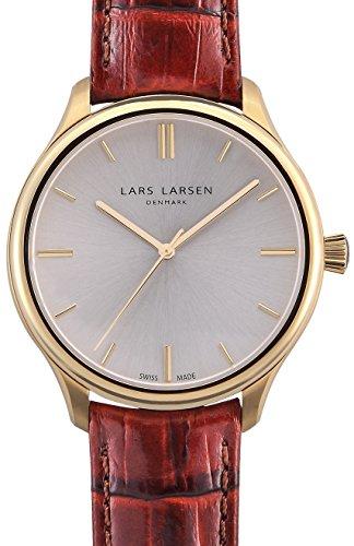 Lars Larsen - 120GBCL - Montre Homme - Quartz Analogique - Bracelet Cuir Marron