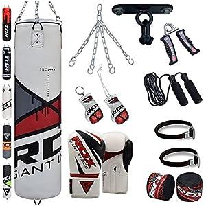 RDX MMA 3 Crochets Acier Cha/îne pour Sac de Frappe Suspension Plafond Fixation Muay Thai Boxe Punching Bag