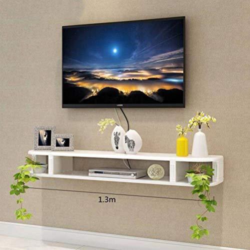 BinLZ Kreative Tv Hintergrund Wanddekoration Rahmen Trennwand Regal Wohnzimmer Moulding Rack Tv-Schrank Set-Top-Box, 1.3 Meters 1,3 M-box