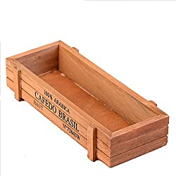 jardineras madera retro carnoso planta caja vintage decoracin del jardn