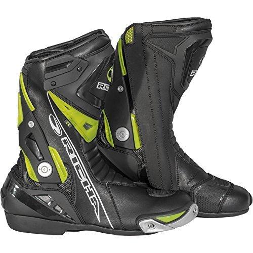 Richa Blade wasserdichte Motorrad-Stiefel,Schwarz, 5060413813753, Schwarz Neon-Gelb, 50