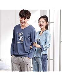 918fe467b0 Hillhead Primavera y otoño pareja pijama mujer verano algodón manga larga  versión coreana del servicio a