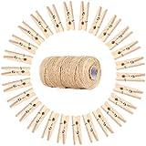 24 Holz-W/äscheklammern # Ma/ße ungef/ähr 7,3 x 1 cm # W/äscheklammer mit Feder # Holzklammer Holzklammern W/äscheklammern
