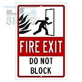 Fire Exit nicht Block Aluminium Schild Blechschilder Vintage Road Schilder Dose Teller Schilder dekorativer