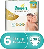 #3: Pampers Premium Care Extra Large Diapers,Stage 6, ( XL)Value Pack15+ Kg, 36 Count