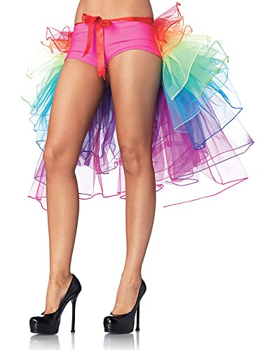 Mangotree Damen Retro Petticoat Kurz Rock Ballett Blase 50er Tüllrock Unterröcke 4 Layers Pettiskirt Unterkleid Tanzkleid Faschings Kostüm (Z# Regenbogen (ohne Schlüpfer)) (Rock Layer-petticoat)