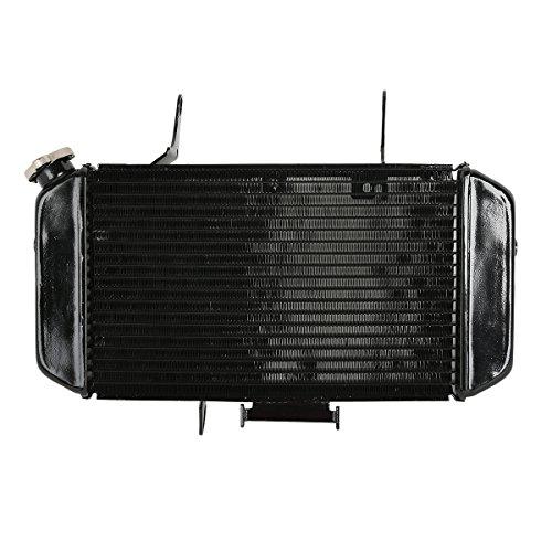 TengChang Motorrad Schwarz Aluminum Kühler Cooler Wasserspender für SuzukiI DL650 2004-2011