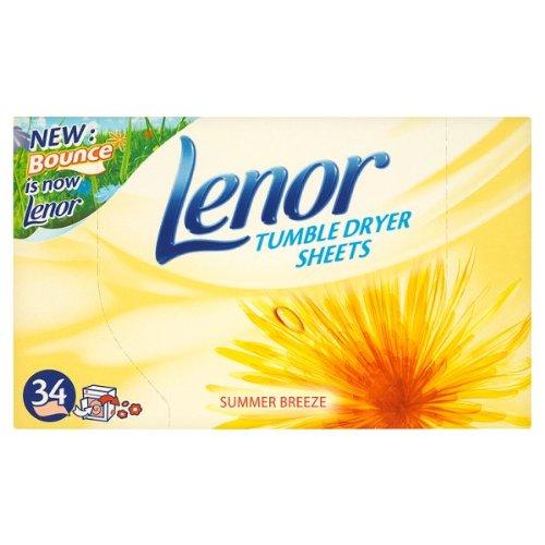 Lenor Draps Sèche-linge Brise d'été - 2 x 34