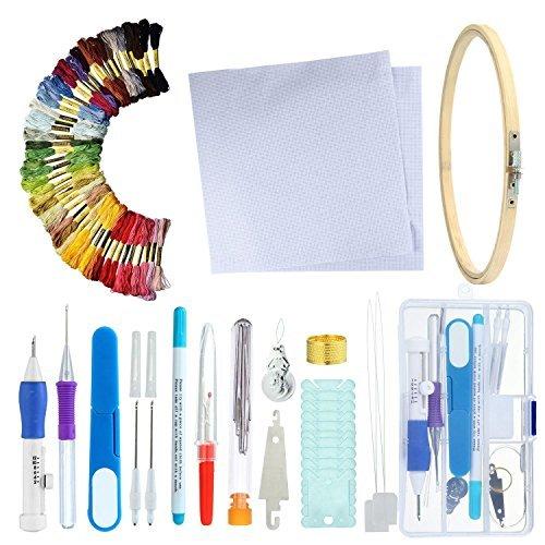 Stanznadel-Set, magische Sticknadeln, Handarbeits-Werkzeug zum Nähen, Sticken, plastik, C, Normal