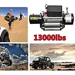 Telecomando senza fili Verricello elettrico 12V 4x 45.896,7kilogram per argano Verricello per auto kit set potente per ATV camion fuoristrada