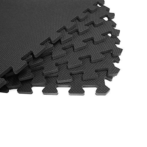 Black Interlocking Cushion – Mats