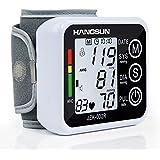 Hangsun Tensiómetro de Muñeca Digital Electrónico BM90 Monitor de Presión Arterial con Detección del Ritmo Cardíaco Hipertensión