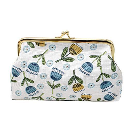 he Damen Elegante Portemonnaie Large Smartphone Wallet Paket ändern Verlängern Mädchen Landscape Zip Coin Pocket Premium Purse Women Hand Paint Gold Clip Sonnenblume ()