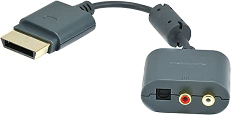RCA / Toslink Audio Adapter for Xbox 360 and Xbox 360 Slim