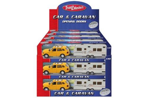 KT Metalldruckguss Auto & Caravan mit Opening Doors