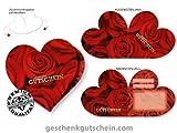 10 Stk. Herz-Gutscheine BL450 für Valentinstag, Muttertag oder einfach aus Liebe