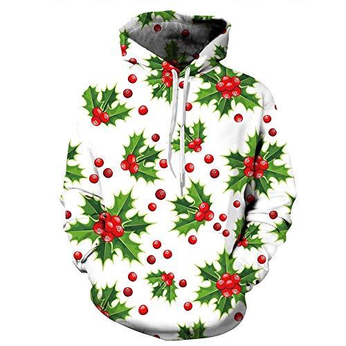 JiaMeng männer Weihnachten Weihnachten kostüm Weihnachten Herbst Winter 3D Print Langarm Mit Kapuze Sweatershirt Pullover Pullover Tops Hoodie
