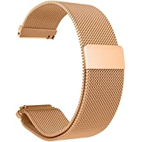 Quick Release Band Strap, Milanese Magnetic Loop Stainless Steel Replacement Bracelet Watch Band Strap For Xiaomi Huami Amazfit Bip Youth Watch