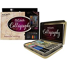 MONT MARTE Calligraphy Pen Set - 33 pieces - Perfect for beginners - Includes: 4x calligraphy pen, 5x calligraphy nibs and much more - Great introduction to Calligraphy and Handlettering!