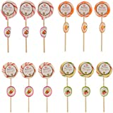 Kandee Swirl Pops Assorted Fruity Flavours Kandee Swirl Pop, 10 g, Pack of 12