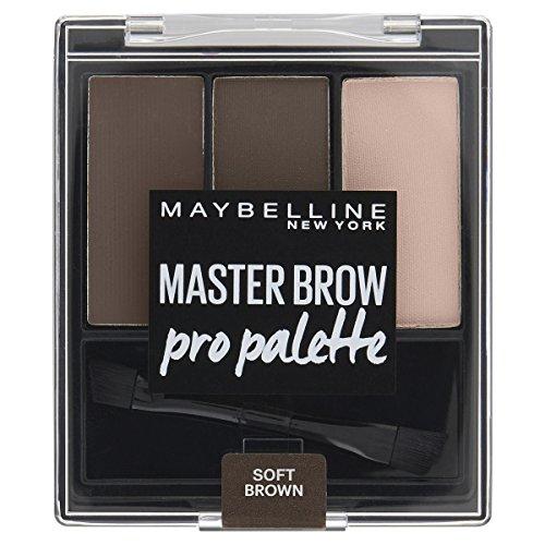 Maybelline Master Brow Pro Palette in Soft Brown, 3in1: formgebendes Wachs, Augenbrauenpuder und...