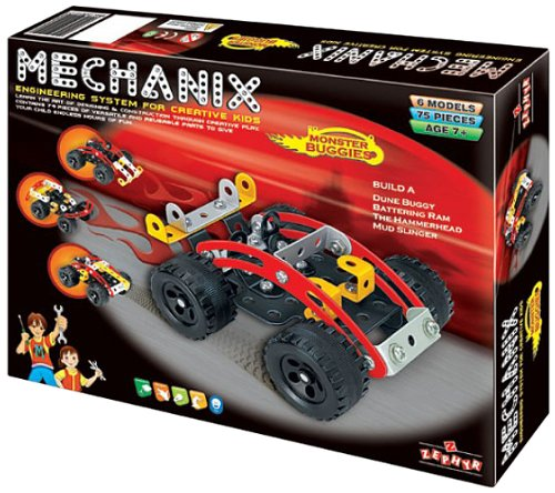 Mechanix Monster Buggies Toy, Age 8 to 99 Unisex, enhancing practical education, STEM Learning, Mechanical Skills and…