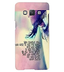 ColourCraft Quote with Image Design Back Case Cover for SAMSUNG GALAXY A8