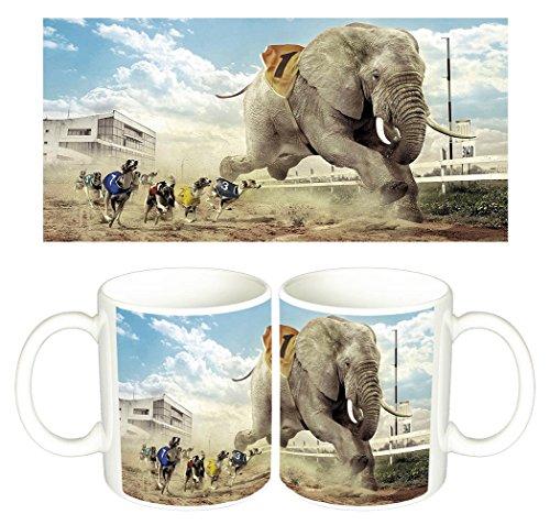 carrera-de-perros-y-elefante-dogs-elephant-races-mug