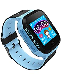 Niños Inteligente Relojes para Android iOS, AGPS + LBS Rastreador,128MB +64 MB