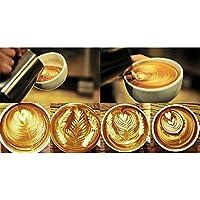 Foerteng caraffa schiumalatte 340,2gram/350ml giapponese tipo addensare conico in acciaio INOX brocca tazza per caffè (Espresso Latte Art)