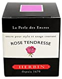 Herbin Encre de recharge traditionnelle à stylo en flacon D 30 ml Rose Tendresse
