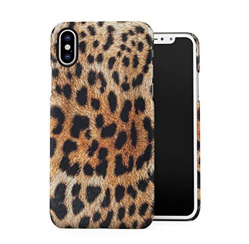Glamorous Cheetah Fur Skin Pattern Dünne Handy Schutzhülle Hardcase Aus Hartplastik Hülle Kompatibel mit iPhone X, iPhone XS Handyhülle Case Cover Leopard Snake