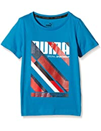 Puma Fun TD Graphic–Camiseta para niño, Fun Td Graphic, azul, 152