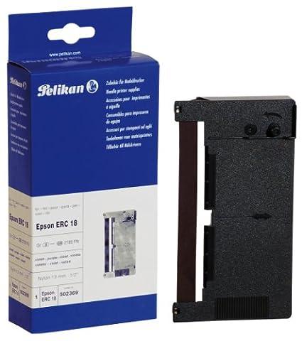 Pelikan Ruban Pelikan pour Epson Erc 18 Nylon Violet 13 Mm / 12 M Sharp Er 3115 (502369)