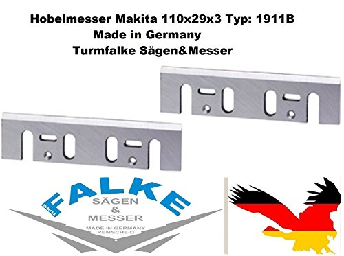 Preisvergleich Produktbild 2 Stück Hobelmesser Makita 110x29x3 Typ: 1911B