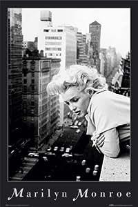 1art1 632 Poster Marilyn Monroe Ville N/B 91 X 61 cm