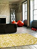 benuta Tappeto Patchwork-Mosaico Giallo 200x290 cm - 100% Polipropilene - Motivi in Rilievo - Tessuto a macchina - Soggiorno