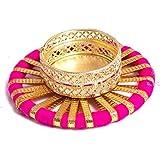 Slings Handcrafted Designer Metallic Diwali Diya Lights Tea Lights Candle Holder Home Decoration (Set Of2) - B075TGVYYD