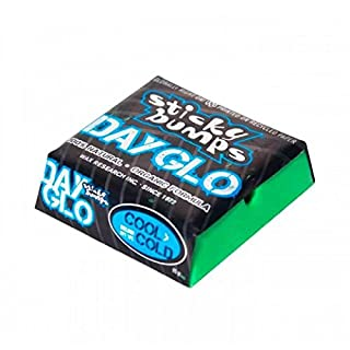 Sticky Bumps Day Glo cool/cold Surfwax / Wachs-Green