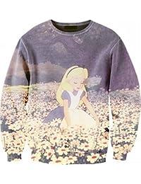 Ninimour Sudaderas estampado de mangas largas 3D Cartoon Digital Print Sweatshirt