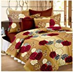 Panipat Textile Hub 100% Cotton Double BedSheet for Double Bed with 2 Pillow Covers Set, Queen Size Bedsheet Series, 140...