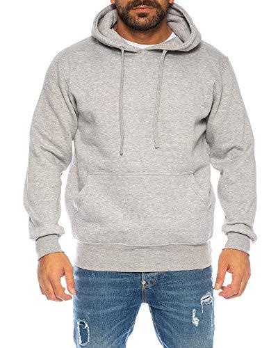 Raff&Taff Hoodie Kapuzenpullover Sweatshirt Sweater Pullover | S - 6XL | Sport Alltag Freizeit | Premium Baumwolle Fleece Innenseite (Hellgrau, 6XL)