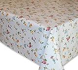 Wachstuch Tischdecke, Gartentischdecke, Blumen-Motiv, Eckig Rund Oval, Motiv u. Größe wählbar, (Klassische Blümchen, Eckig 130x160)