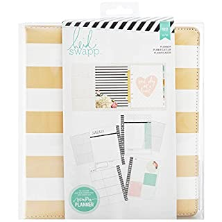 American Crafts Heidi Swapp Large Memory Planner Gold Foil Stripes, Acrylic, Multicolour, 6.35x21.59x23.49 cm