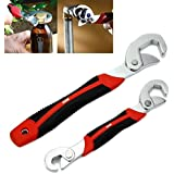 ATOOZED Adjustable Universal Multi Wrench Spanner Set Tools Snap and Grip